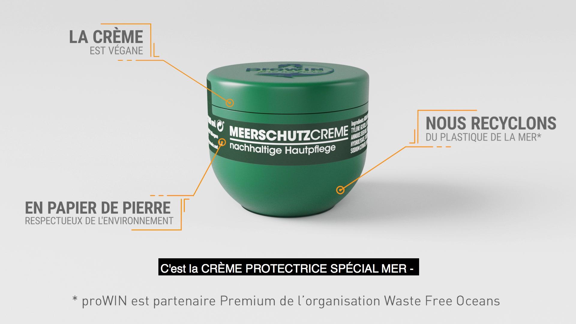 La Crème protectrice spécial Mer - protège la mer et la peau.